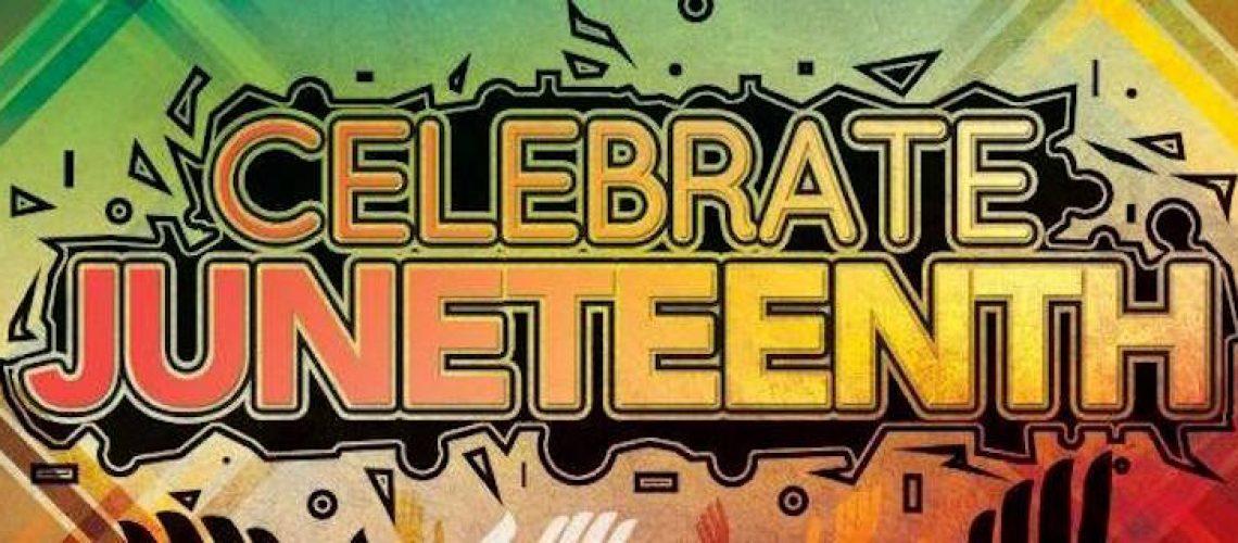Celebrate Juneteenth lettering